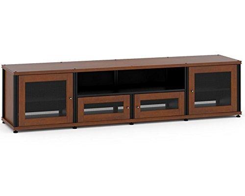 Salamander Designs 245C/B Quad-Width Audio Video Cabinet, Cherry with Black Posts