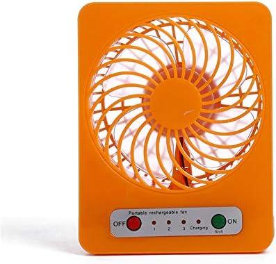 mingming52091 USB Fan Mini Child Student Portable Handheld Fan Table Desk Fan USB Charging Fan Orange