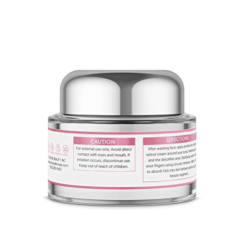 41x3p%2BxWGwL - L'amore Beauty Collagen Retinol Cream (30mL) Anti-Aging Day and Night Facial | Age Defying Skincare Firms and Lifts Wrinkles, Fine Lines | Hydrating Face, Neck, Décolleté Moisturizer