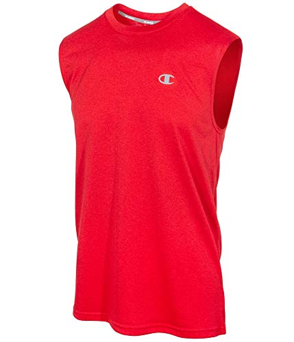 Champion Men's Double Dry Heather Muscle Tee, Champion Scarlet Heather, XX-Large ()