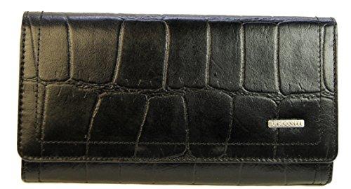"""Visconti portafoglio di pelle da donna """"Bippa"""" nero coccodrillo/Berry Purse (BP50):"""