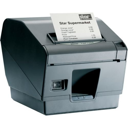 Star Micronics 39442511 Model TSP743IIU-24GRY Thermal Printer, Friction, Cutter, USB, Without Power Supply, Gray