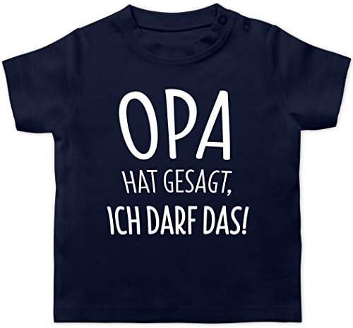 I Love Opa Nuckelflasche Baby T-Shirt Langarm Zur Geburt Shirtracer