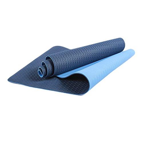 Tapis de yoga LXF Débutant TPE Matériel Tapis De Danse Fitness Exercice Anti-dérapant Haute Élasticité Bleu, Vert Violet 183 * 61 cm, 6mm Épais