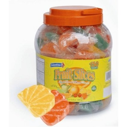 Wrapped Slices Individually (Colombina Individually Wrapped Assorted Fruit Slices - 150ct Jar)