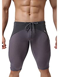Men's Sports Fitness Pants Swimming Trunks Tight Shorts B2227