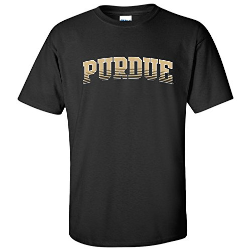 UGP Campus Apparel AS27 - Purdue Boilermakers Arch Fade T-Shirt - X-Large - Black ()