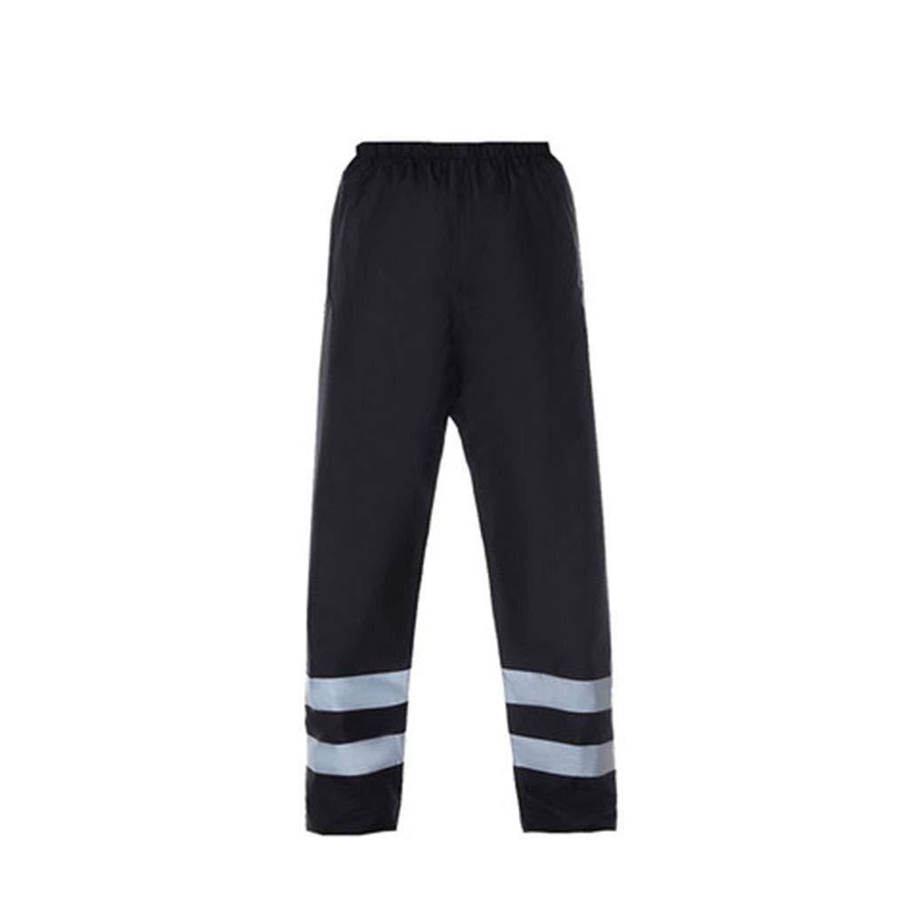 JTWJ 反射レインコート蛍光赤屋外防水レインコートレインパンツ安全通気性反射衣類 (色 : Rain pants, サイズ さいず : XXXL) XXXL Rain pants B07Q6T8XQD