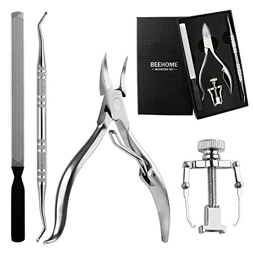 - Profession 4PCS Ingrown Toenail Kit, Premium Stainless Steel Pedicure Tools Surgical Grade Nail File Clipper Lifter Corrector with Portable Box