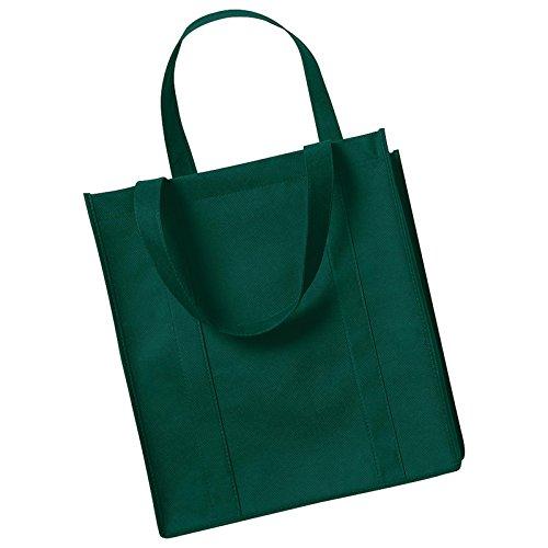 Para mujer super de algodón de molinillo de Westford bolsa de la compra bolsa de transporte talla única, color verde botella