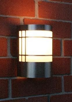 Außenlampe Außenleuchte Mit Dämmerungsschalter Lampe Edelstahl LED Warmweiß  U0026quot; ...