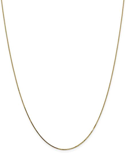 Spring Ring 14k .5mm Box Child Chain JewelryWeb 14 Inch