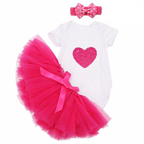 YTM Baby Girls' Tutu Romper 1st Birthday Tutu Outfit Dress (L, 2#) (Show Girl Outfits)