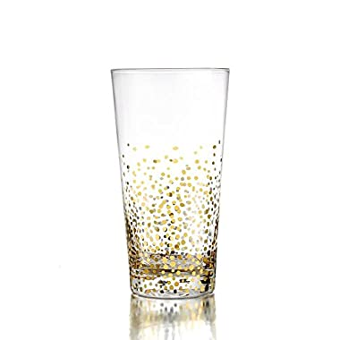 Fitz and Floyd Luster Highballs (Set of 4), Gold