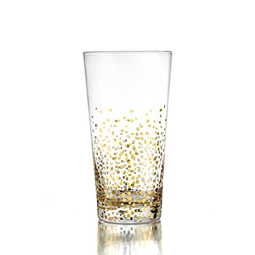 Fitz and Floyd Luster Highballs (Set of 4), Gold by Fitz and Floyd