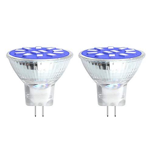 - Bonlux 2W LED MR11 GU4 Blue Light Bulb - 10-30V AC/DC MR11 LED Spotlight G4/GU4.0 Bi-pin Base, 20W Halogen Bulbs Equivalent for Landscape Accent Recessed Track Lighting (Blue, 2-Pack)