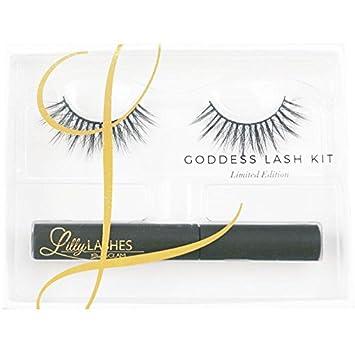 c8c332a0e3b Lilly Lashes Luxury Collection Goddess Lash Kit | False Eyelashes | Latex  Free | Brush On