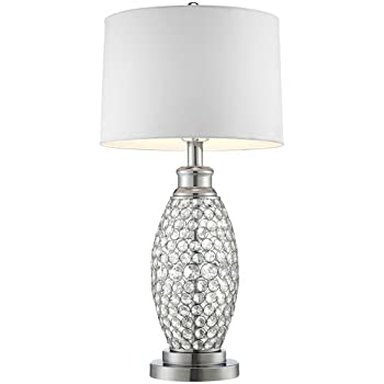Possini euro design beaded table lamp with white shade amazon possini euro design beaded table lamp with white shade aloadofball Choice Image