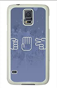 Case For Samsung Galaxy S5 Cover and CoveRock Paper Scissors Polycarbonate Case For Samsung Galaxy S5 Cover White