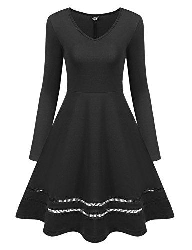 待つ完璧カフェACEVOG DRESS レディース US サイズ: XXL カラー: ブラック