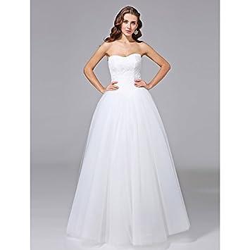 kekafu Vestido bustier Longitud Piso En Tul vestido de novia con encaje por LAN TING NOVIA