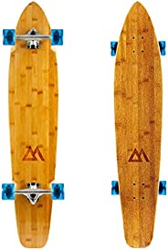 Magneto 44 inch Kicktail Cruiser Longboard Skateboard | Bamboo and Hard Maple Deck | Made for Adults, Teens, a