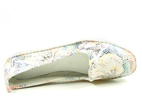 Andrea Conti 0021608 Mocasines de cuero para mujer Weiß