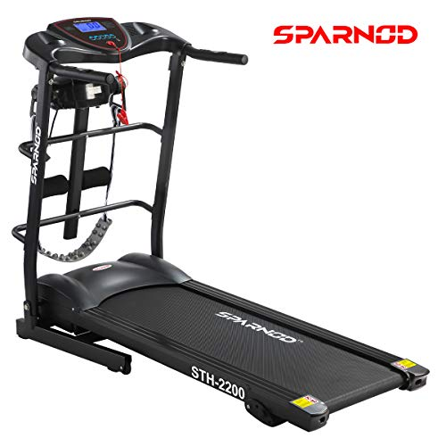 Sparnod Fitness STH-2200 (4 HP Peak) Automatic Treadmill (DIY Installation) – Multifunction Foldable Motorized Running Indoor Treadmill –for Home Use Price & Reviews