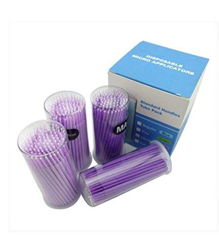 Isuper Microcepillos - Set di pennelli da trucco usa e getta, 400 pezzi