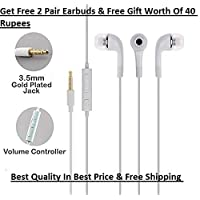 Vikruti Earphones with Mic for Xiaomi/Oppo/Vivo/Samsung/Micromax/Lenovo with Super Bass & Get Free Gift Worth of 40Rupees