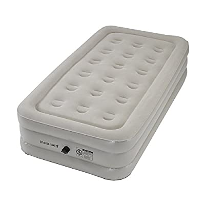 Instabed Twin-size Airbed with External AC Pump, 16 inches high x 39 inches wide x 74 inches long