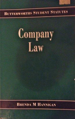 Company Law (Butterworth Student Statutes)