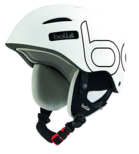 Bolle Juliet Adult Ski Snowmobile Helmet - Soft White and Black / 58-61cm