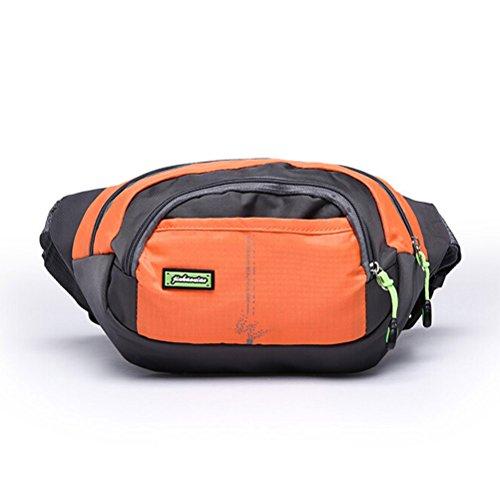 Price comparison product image Stylish Nylon Bohemian Shoulder Chest Bag Money Phone Fanny Pack Waist Belt Pouch Orange
