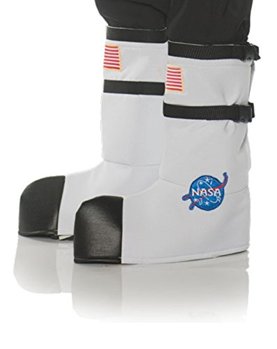 (Underwraps Kid's Children's Astronaut Boot Top Covers Costume - White Childrens Costume, White, One Size )