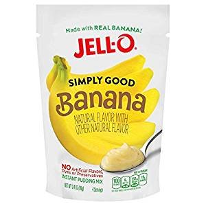 Jell O Simply Good Banana Instant Pudding Mix 3 4 Oz   Pack Of 4