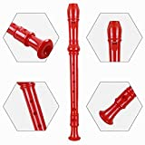 Soprano Recorder Descant Flauta Recorder 8 Hole ABS Clarinet German Style Treble flute C Key for Kids Children With Fingering Chart Instructions with Cleaning Rod Bag Blue