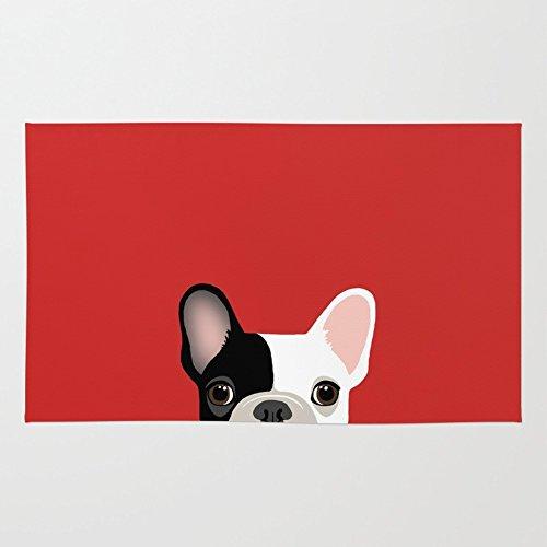 3' X 5 Bulldog (Society6 French Bulldog Rug 3' x 5')