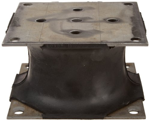 Lord J-14056-4 Flex-Bolt Natural Rubber Large Sandwich Mount, 770 lbs Maximum Shear Static Load, 5.50