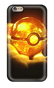 Iphone 6 Case, Premium Protective Case With Awesome Look - Orange Pokeball