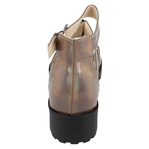 Ladies Spot On Sandals Pewter iIMMTM