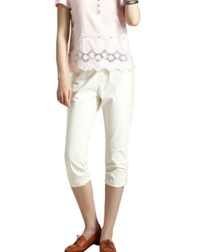 Mujer Anchos Casuales Pantalones Capri Pantalon Harem Tallas Grandes Albaricoque