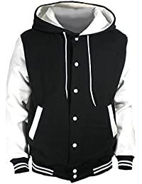 38593c0a3da Men s Hood Baseball Varsity Jacket White