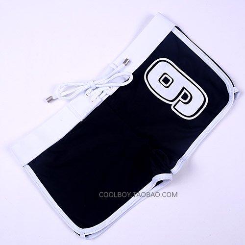 ZQ@QXMaillots de bain fashion Boxer de faible hauteur trunks ,M,Black