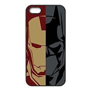 MMZ DIY PHONE CASEBatman and Iron Man Cell Phone Case for iPhone 5S