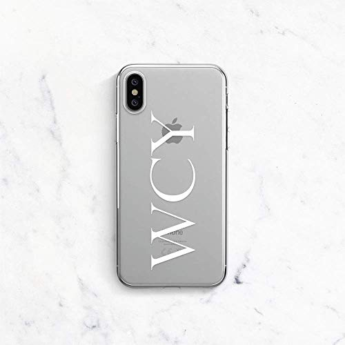 superior quality 3fac9 7c4cf Amazon.com: Initials iPhone 7 Case Monogram iPhone X Case iPhone 10 ...