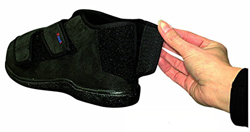 37283 PIMED Verbandschuhe aus Softvelour Frottee-Futter schwarz Fersenklettverschluss Diabetiker geeignet waschbar