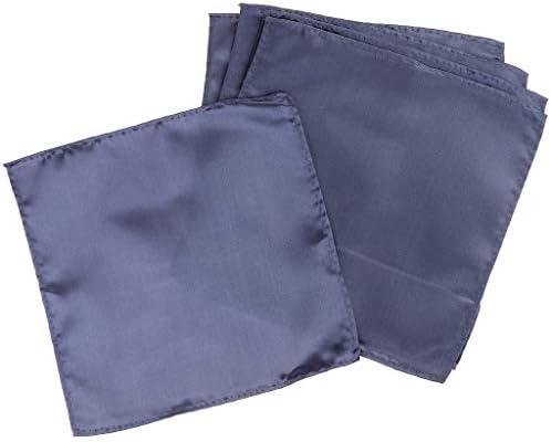 5枚 スーツポケットタオル スクエア ハンカチ タオル 柔らかい シルク 5色選べ