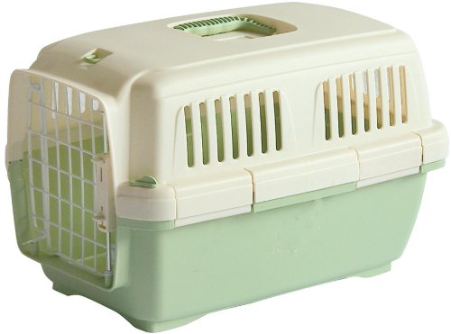 Marchioro Clipper Cayman 2 Pet Carrier, Small Pet, 22.25-inches, Tan/Jade Green