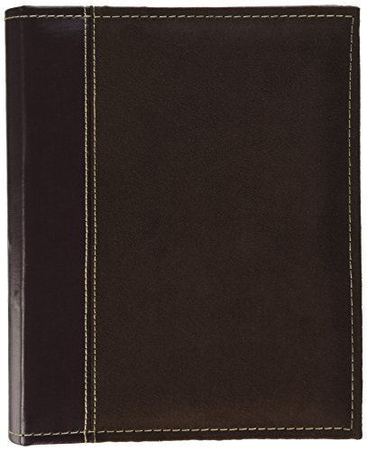 Pioneer Photo Albums 208 Pocket Sewn Faux Suede and Leatherette Cover Album for 4 by 6-Inch Prints, Brown ()